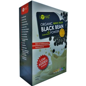 Organic Black Bean with Green Kernel Powder