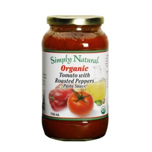 ... Paste > Simply Natural Organic Tomato With Roasted Peppers Pasta Sauce