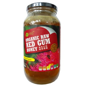 Organic Raw red Gum Honey
