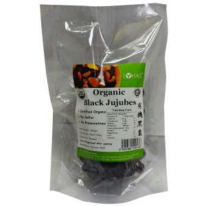 Organic Black Jujubes