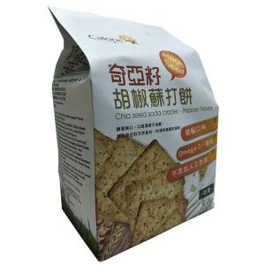 Chia Seed Soda Cracker - Pepper Flavor