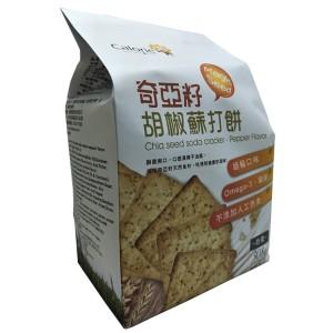 Chia Seed Soda Cracker - Pepper Flavor