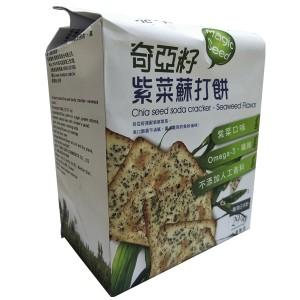Chia Seed Soda Cracker - Seaweed Flavor