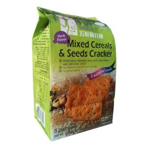 Mixed Cereals & Seeds Cracker - Herb Flavor