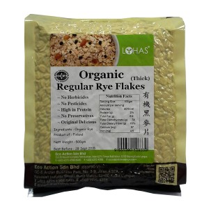 Organic Regular Rye Flakes (Thick)