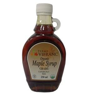 Ferme Vifranc Organic Maple Syrup Grade Canada No. 3