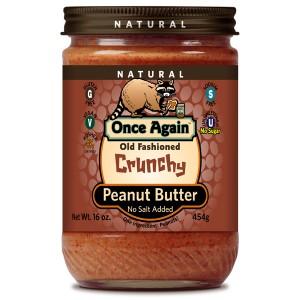 Old Fashioned Natural Peanut Butter Crunchy No Salt