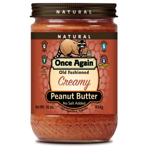 Old Fashioned Natural Peanut Butter Creamy No Salt