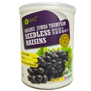 Organic Jumbo Thompson Seedless Raisins