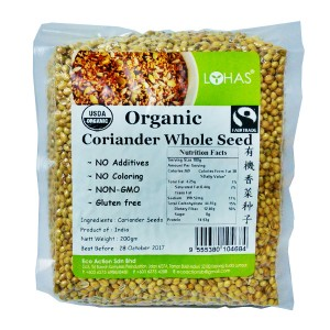 Organic Coriander Whole Seed