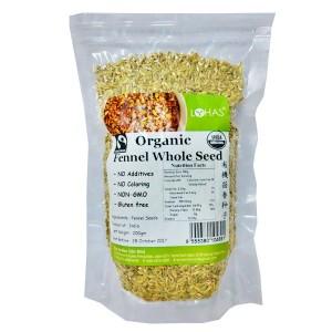 Organic Fennel Whole Seed
